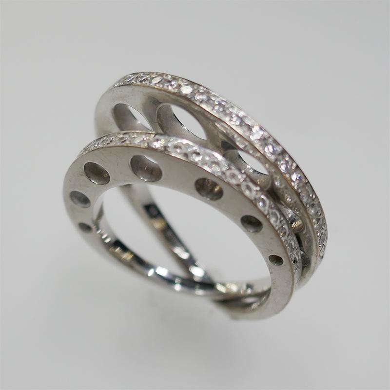 イーノス E-NO'S K18WG ダイヤリング 新品仕上げ