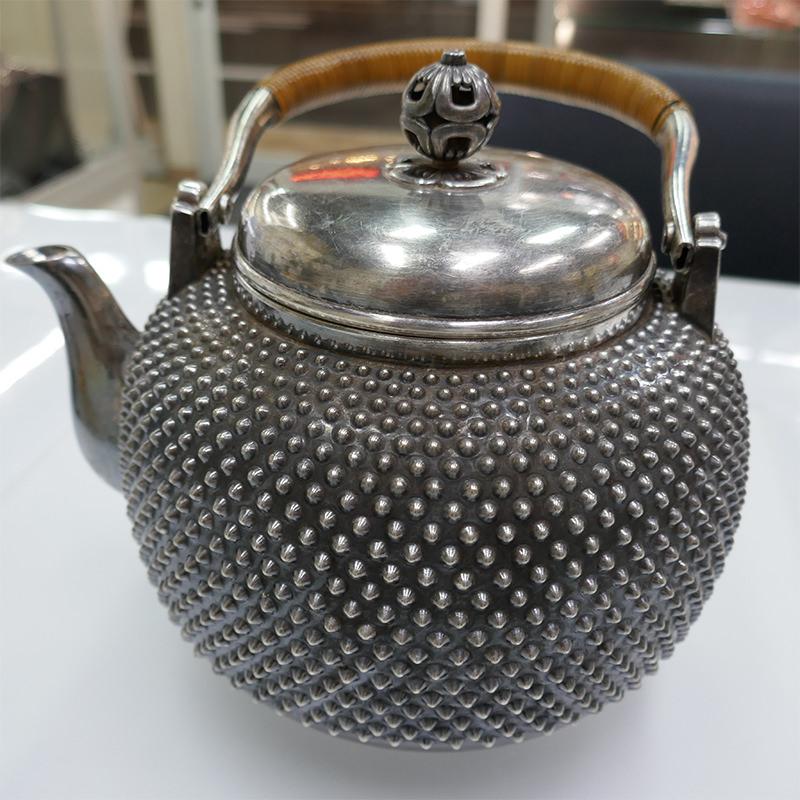 純銀 茶釜