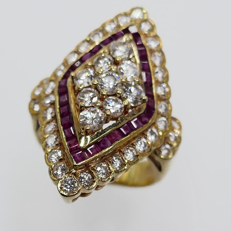 K18 ルビーダイヤリング