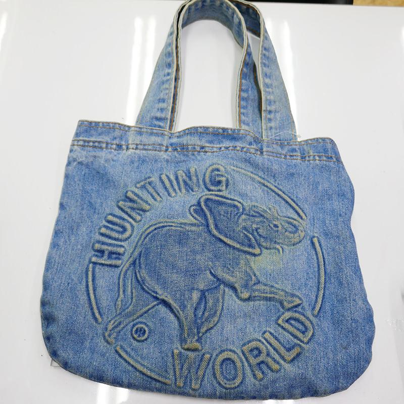 【HUNTING WORLD】ハンティングワールド トートバッグ ブルー ダメージ加工