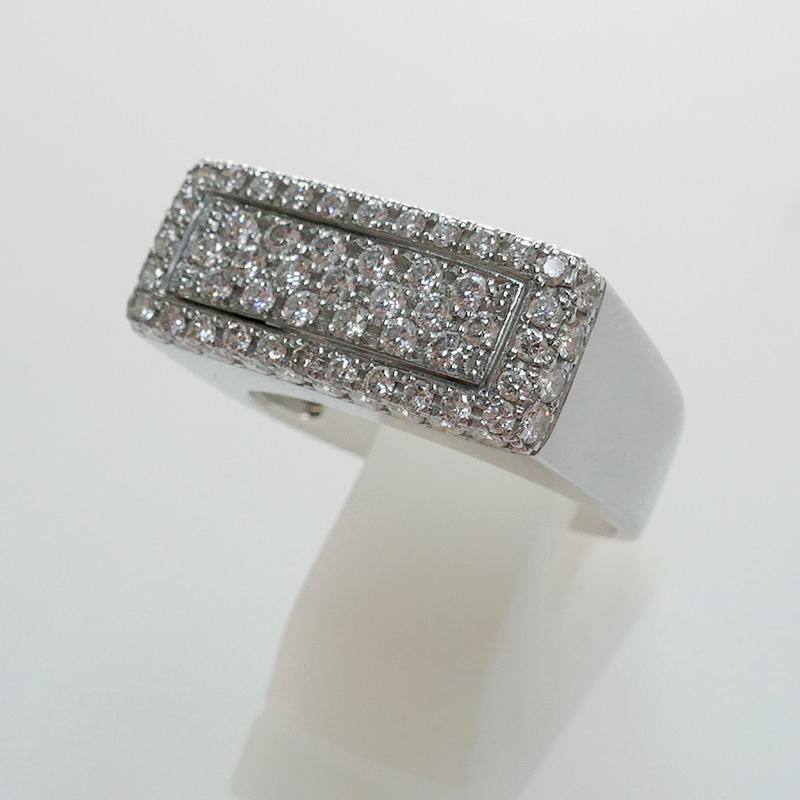 K18WG ダイヤリング